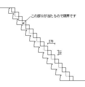 段違い階段カバータイプ 図面を重ねたところ