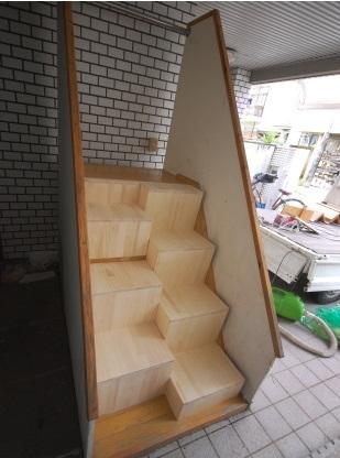 ゆるゆる階段見本 取付後